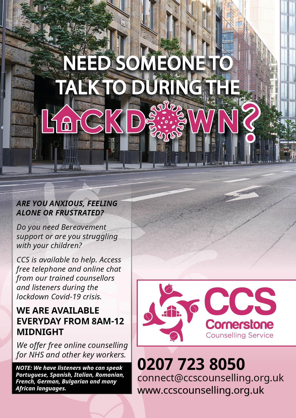 Cornerstone Counselling Service Lockdown Listening And Counselling Services